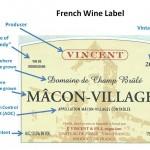 eticheta de vin frantuzesc